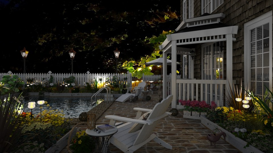 Design 375 Garden Terrace by Night - Garden - by Daisy320