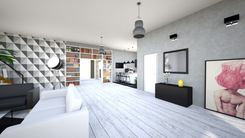 Modern House - Modern - Living room  - by agnieszka_giez