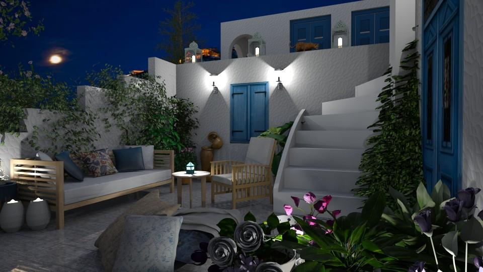Garden By Night - Garden - by bigmama14