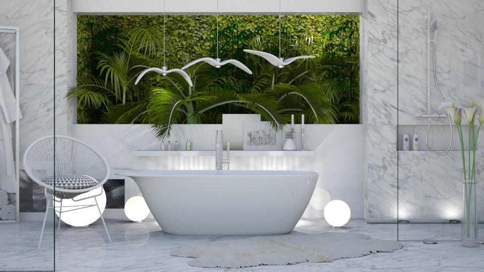 bath jugle1 - Bathroom - by intdeson