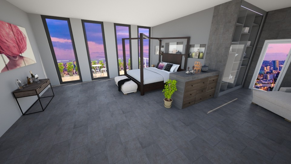 penthouse bedroom - Bedroom  - by cdenton041793