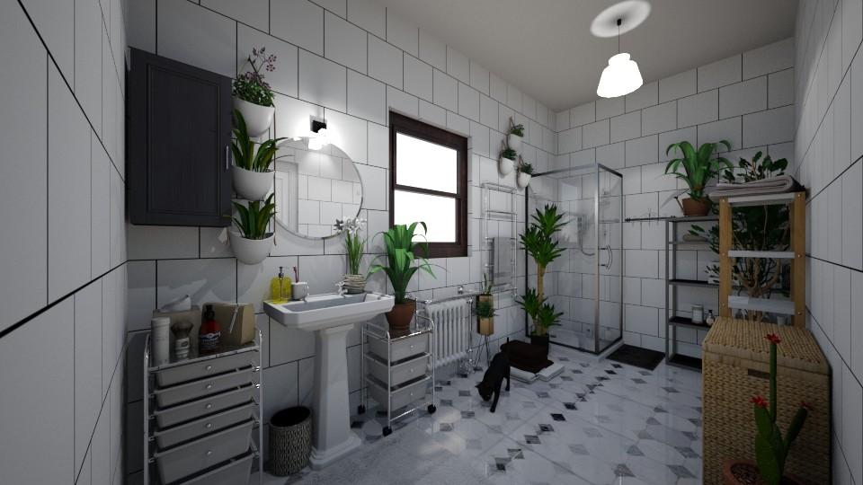 Urban jungle bathroom - Bathroom - by Zuzana K