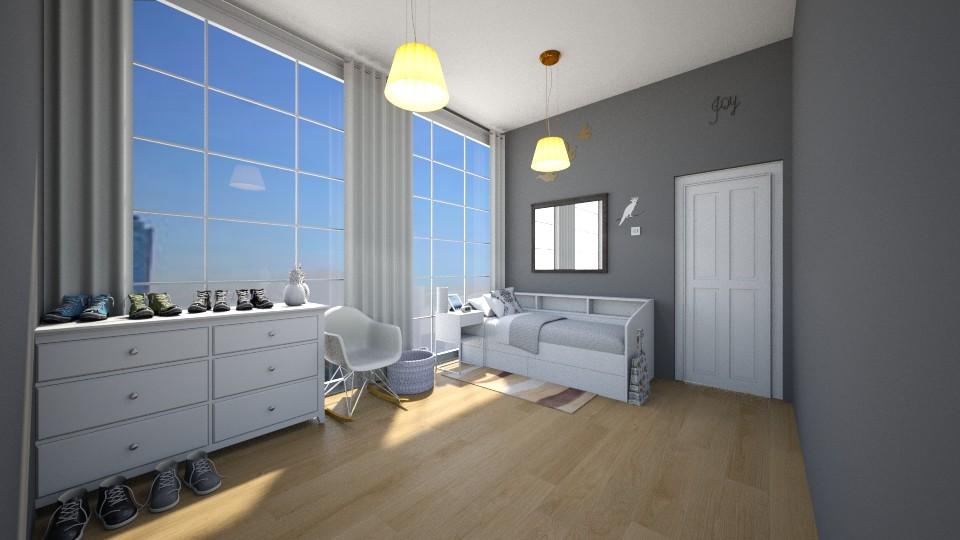 City Scape Bedroom  - Vintage - Bedroom - by Chicken202