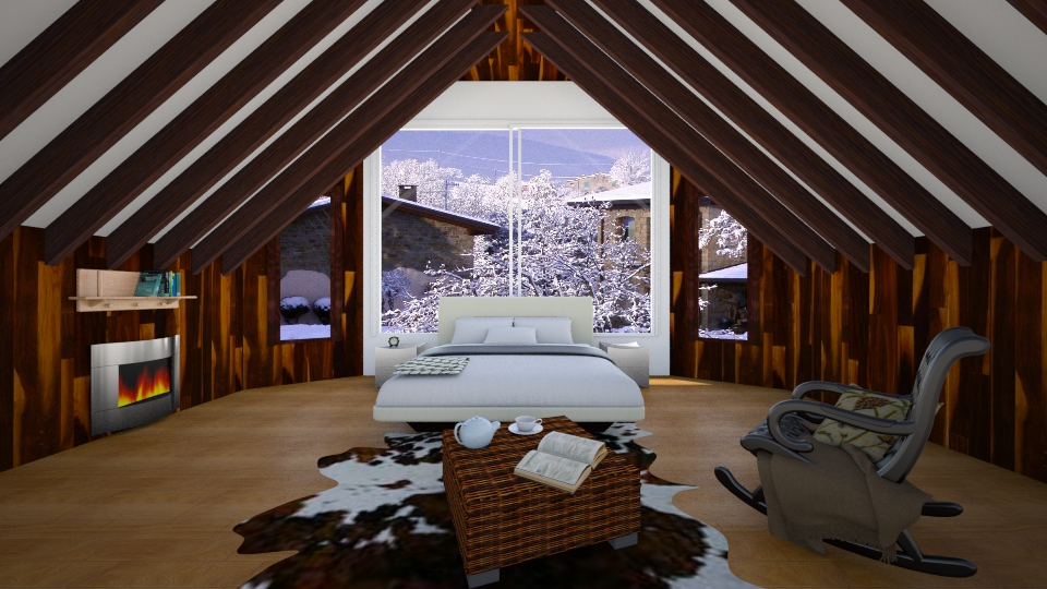 mountain chalet - Bedroom - by didigg