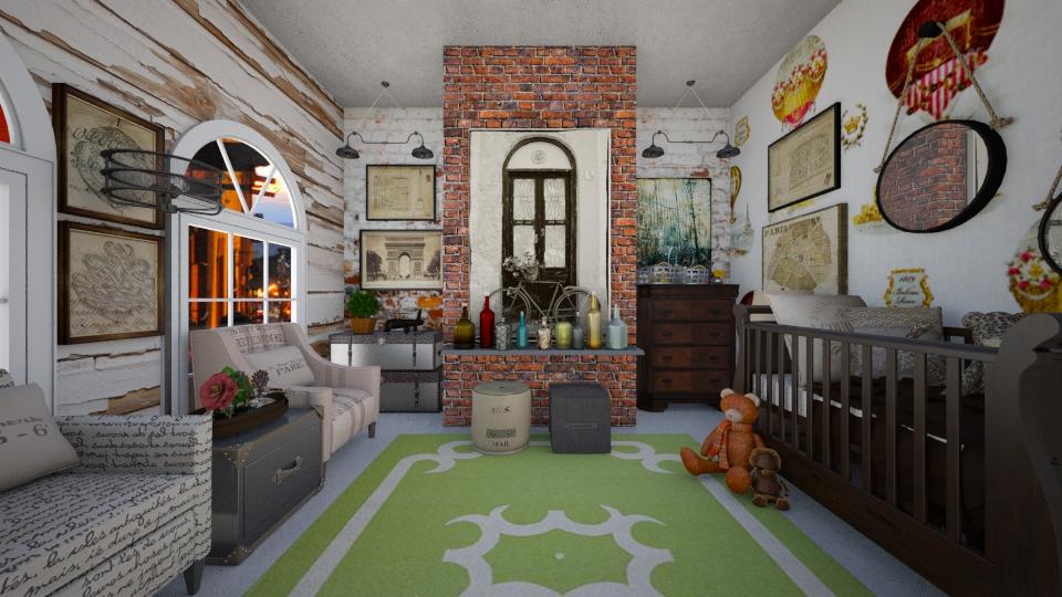 Industrial Nursery - Kids room - by sissybee