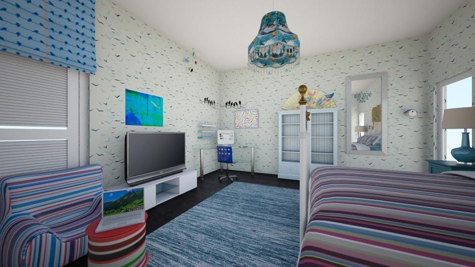 bird bedroom - Bedroom - by hillygabe