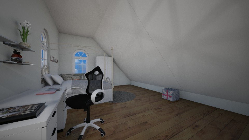 attic room 4 - Bedroom - by AnaP2004