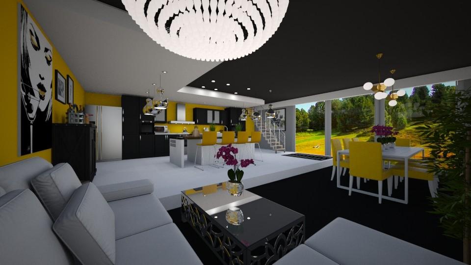Modern Kitchen - Kitchen - by JarkaK
