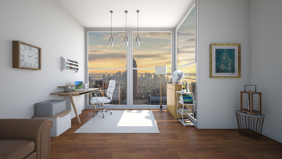 Modern home office  - Modern - Office - by GoliaNova