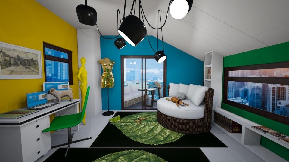 Apartment Designer Studio - Eclectic - Office  - by JaidenLegg
