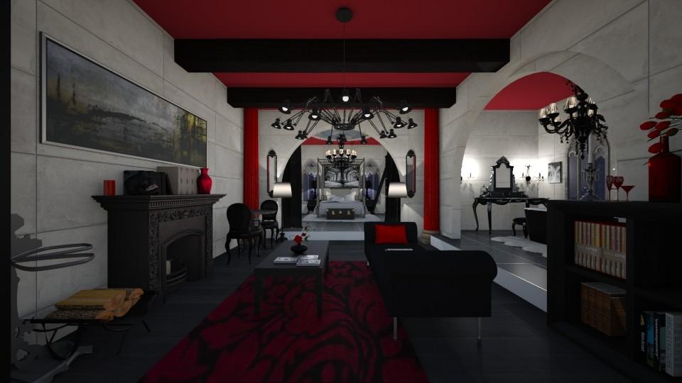 Gothic Room - Vintage - Bedroom - by kristenaK