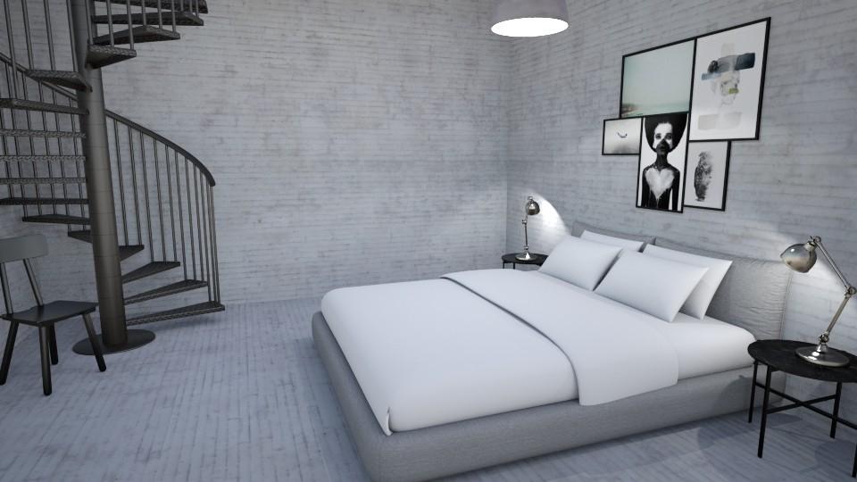 Raw bed on the floor - Rustic - Bedroom - by Basilikum