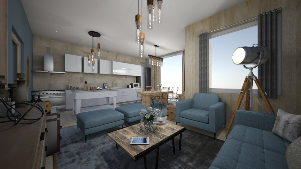 Small house - Living room - by Vasiliki Stagkidou