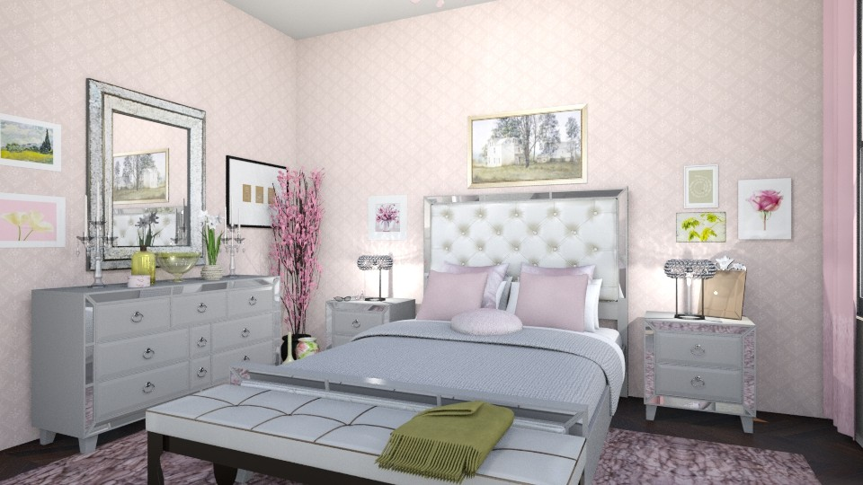 bedroom pale pink - by nilo41