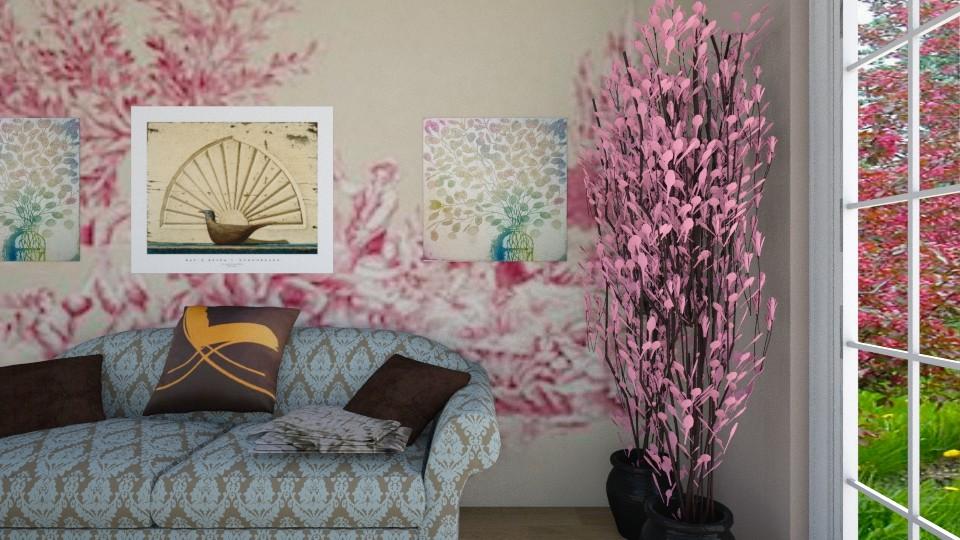 Blossom Trees - Living room - by Tara T