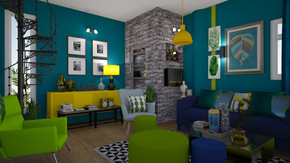 green - Living room - by alina2222