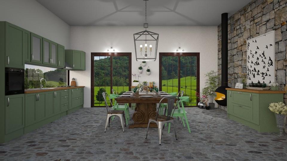 Green Dining - by lizasvetlin