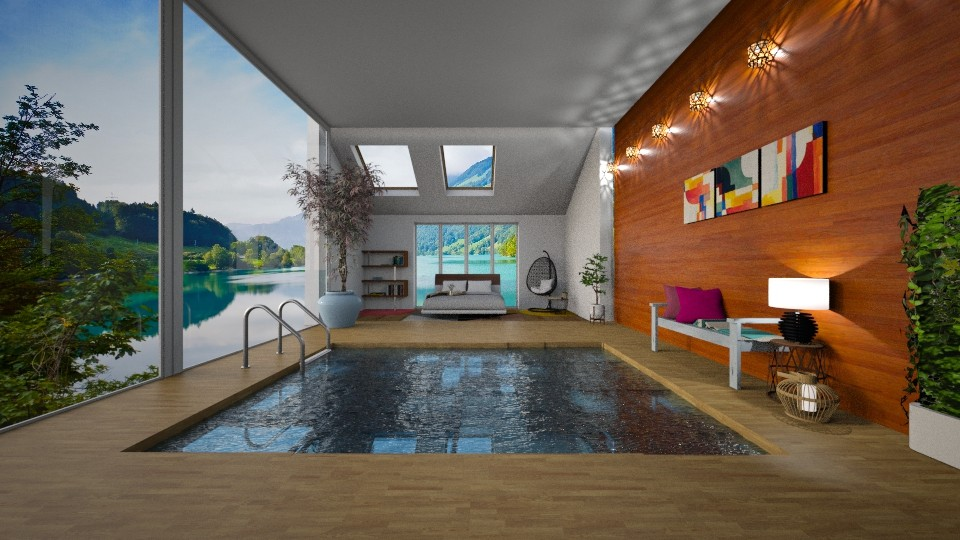 Pool Bedroom - Bedroom - by Art_Decoration