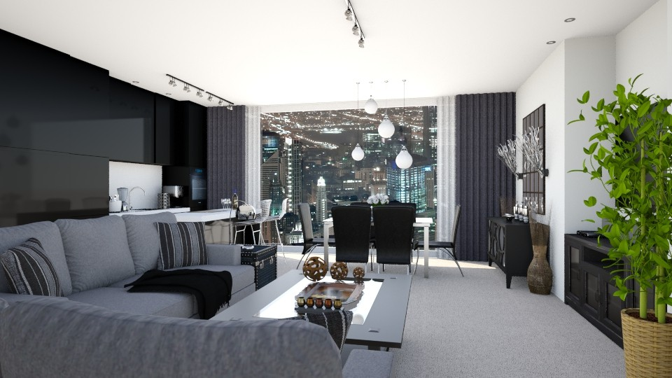 ChicagoTheContemporary - Modern - Living room - by LadyVegas08