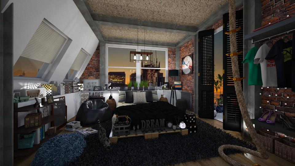Manhattan attic - by AlexDi