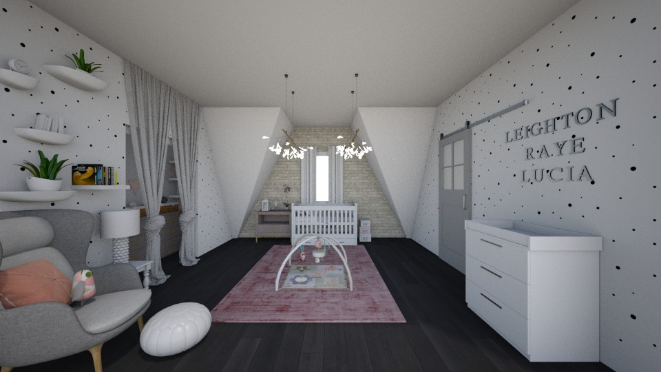 Little Girl Nursery 2 - Modern - Kids room - by cbruno23