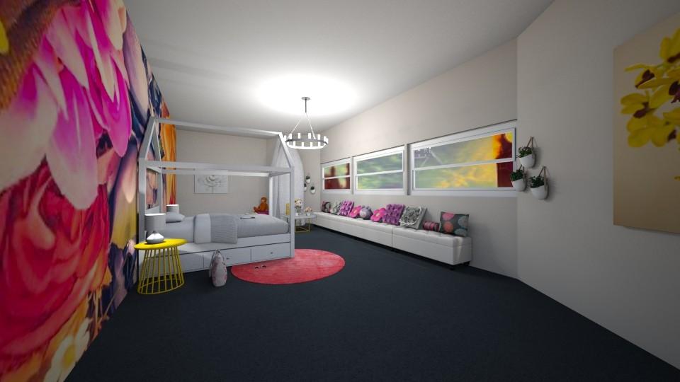 flower bedroom - Kids room - by nicolaswiggins