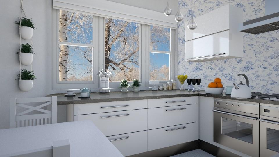Birch trees - Kitchen  - by agapka