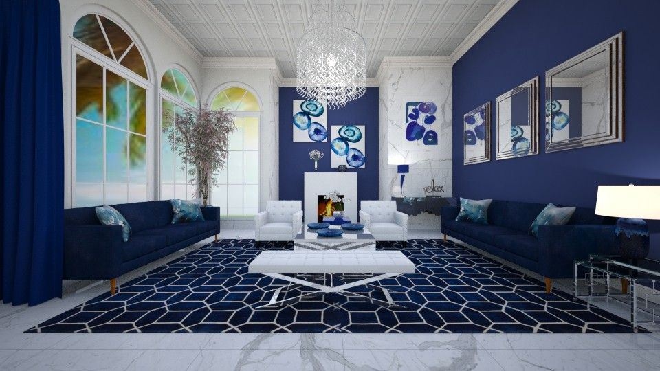 BLUE FOR YOU - Living room  - by RS Designs