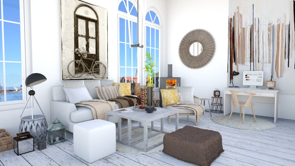 ScandinavianLivingRoom - Living room - by Mihailovikj Mimi