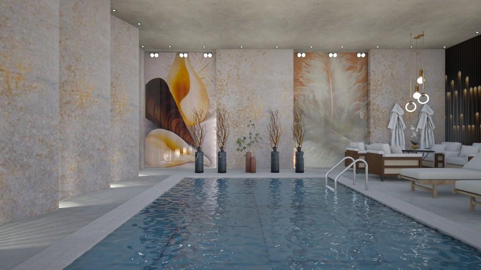 Georgia O Keeffe Pool - by JarkaK