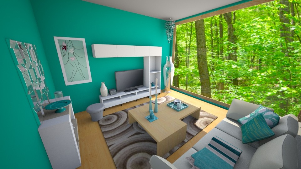 Teal Living - Living room - by JennyBear