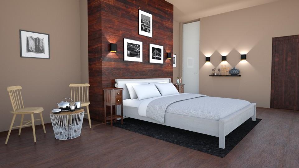 Serene in Wood - Bedroom - by abbyt94