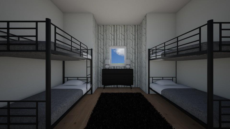 A Cabin Bunkroom - Bedroom  - by Design3690