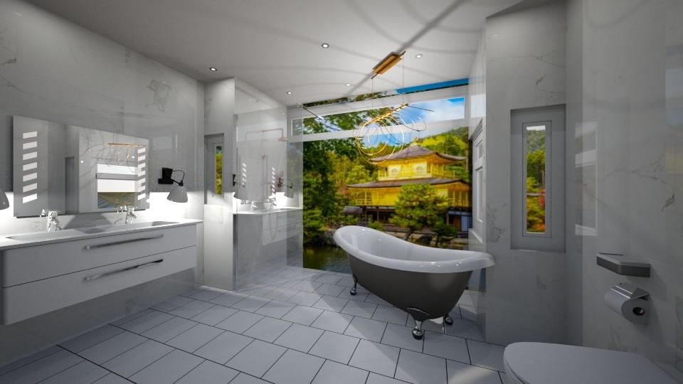 Japanese Scene Bathroom - Bathroom - by jaiden2006