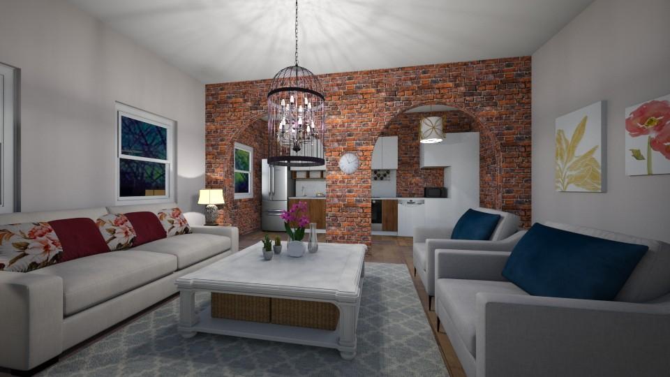 Living Room Kitchen Combo - by LunaMusic