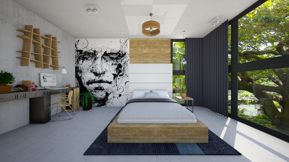 industial - Bedroom  - by maureen smith