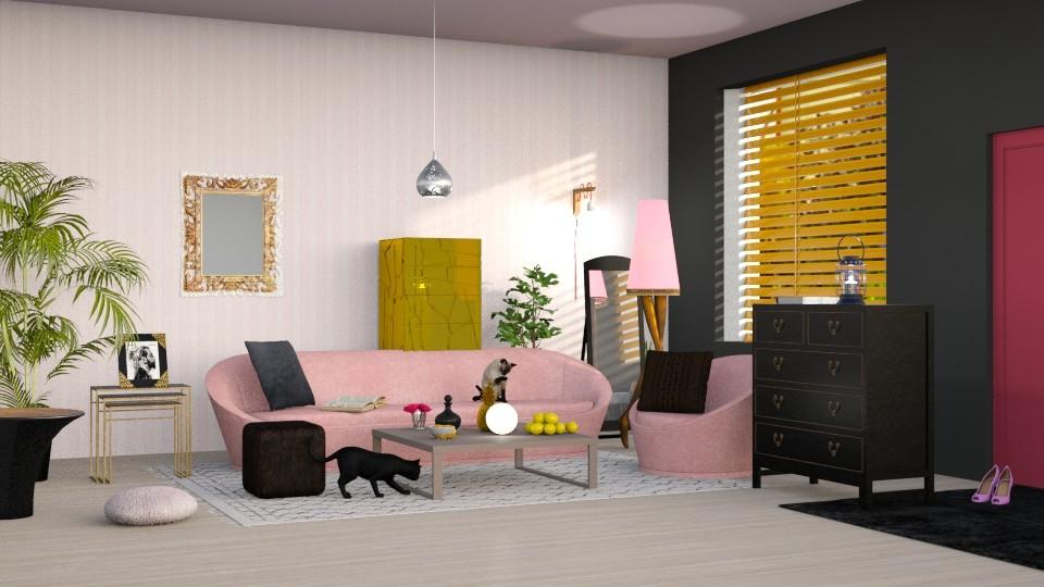 Rose et Noir - Living room - by elephant in savanna