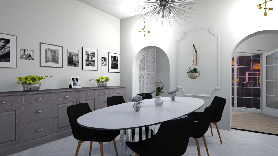 Sleek Dining - Dining room - by inkblot01