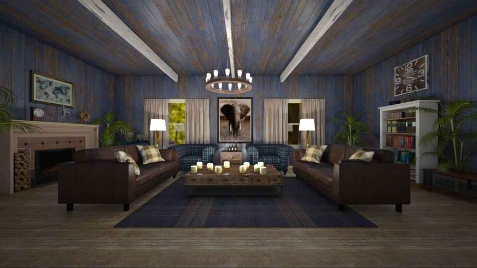 RICKS ROOM - Masculine - Living room  - by RS Designs
