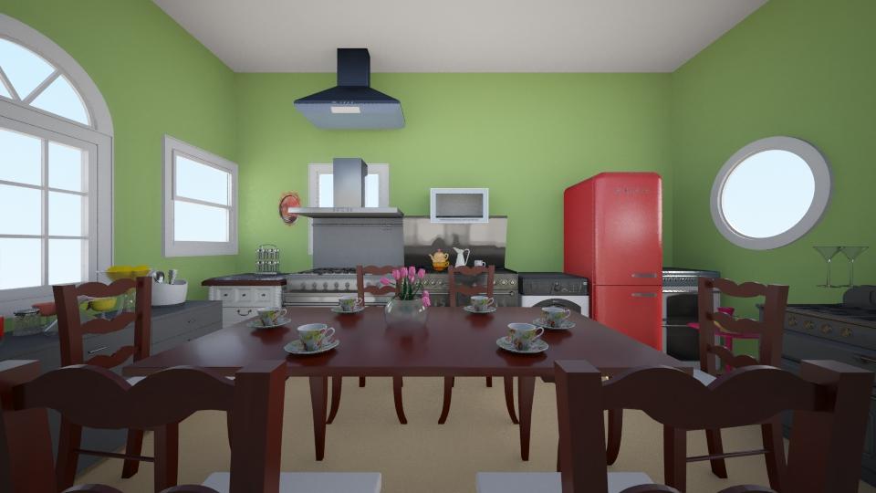 dinning room - Modern - Kitchen - by zahrasav