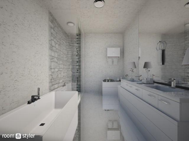 Mirror everywhere - Bathroom - by Anna Wu