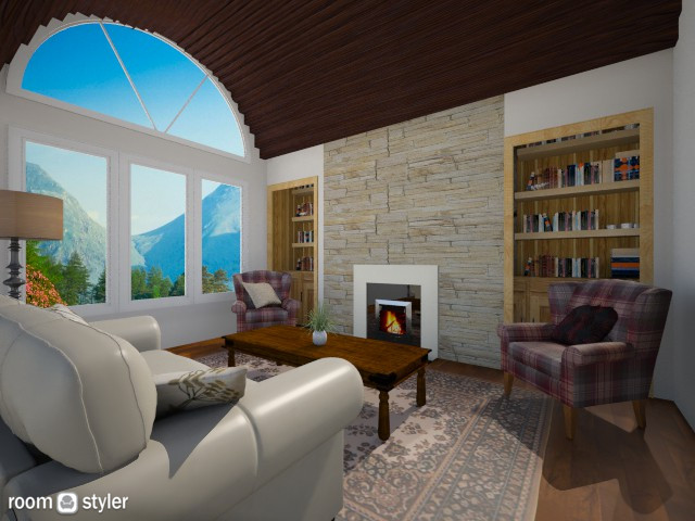 Mountain House - Living room - by clairelist07
