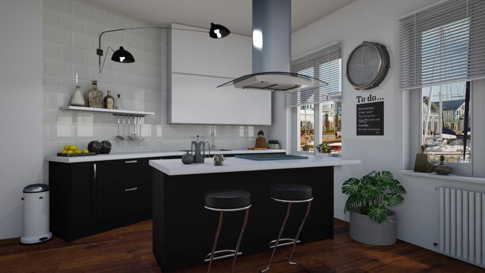 Black and white - Kitchen - by Tuija
