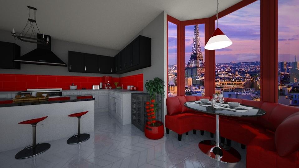 modern kitchen - Modern - Kitchen - by cdenton041793