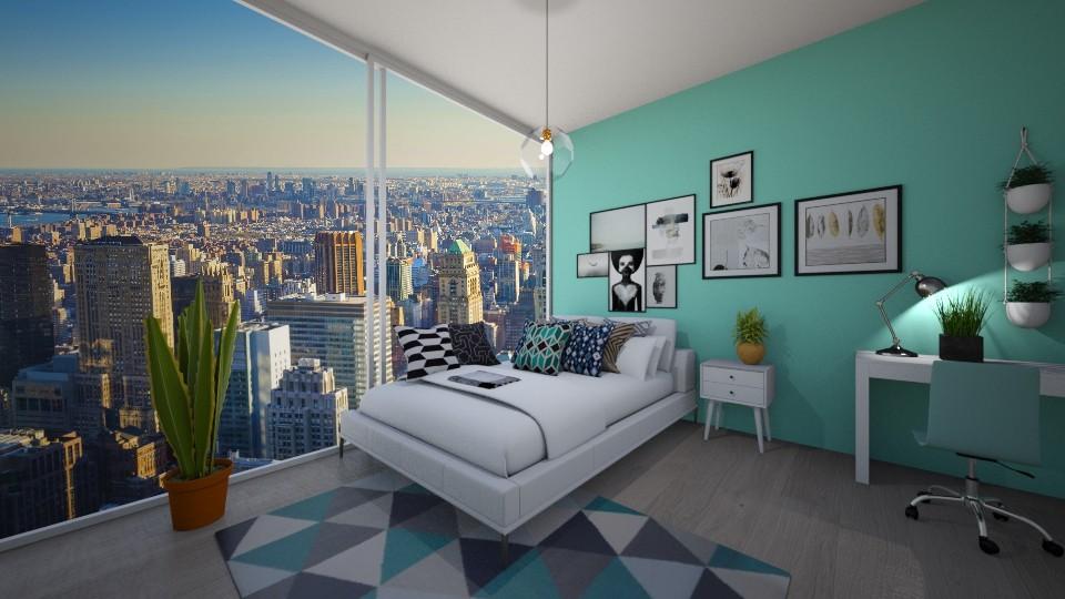 bedroom in new york - Bedroom  - by Abs33