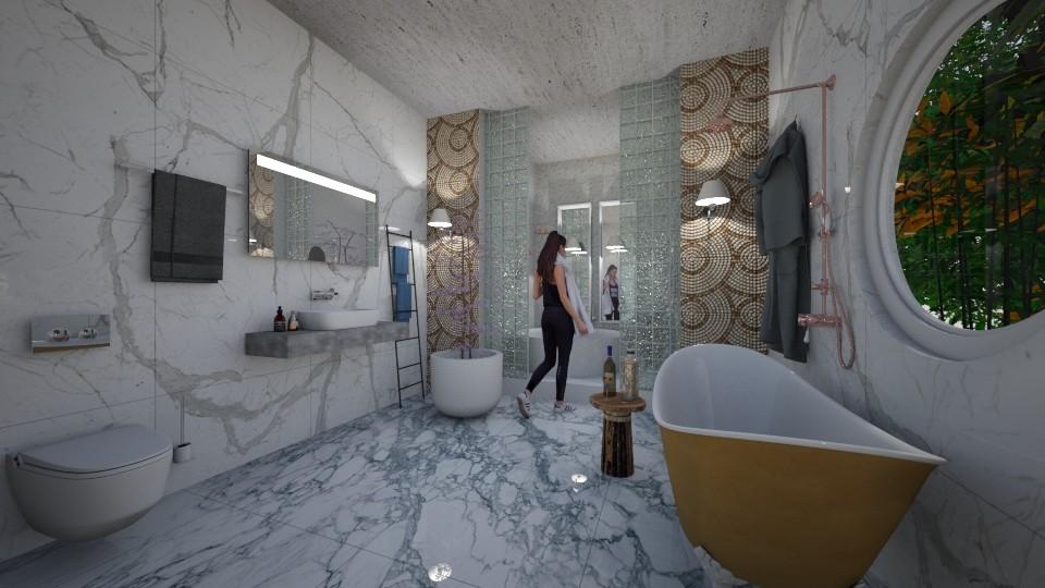 Marble_DeLuxe_Bath_ - Modern - Bathroom - by Nikos Tsokos