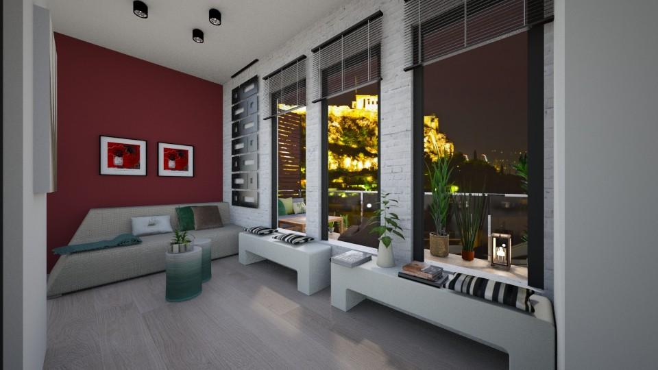 glass bedroom - Bedroom - by Santonia_Design