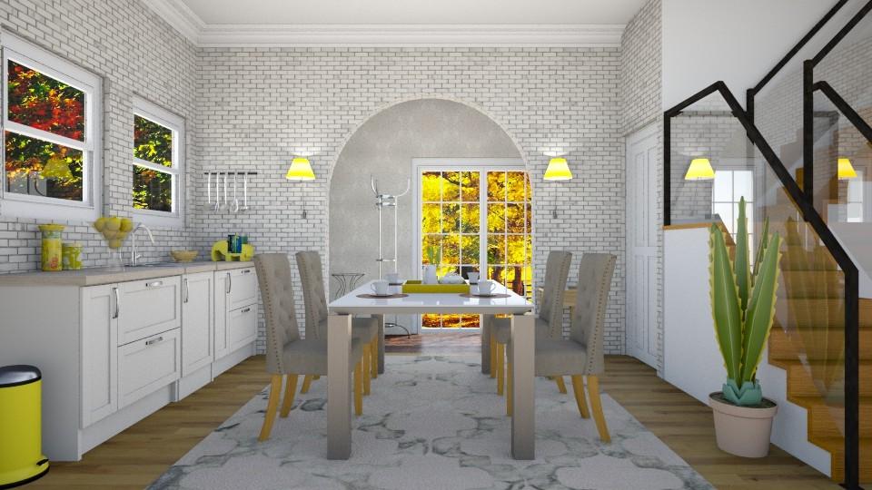 Yellow morning - Modern - Dining room - by ljiljanan