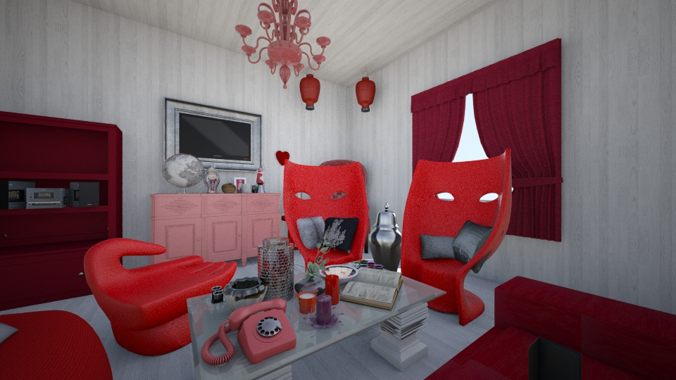 the red room - Living room - by rachelfox985
