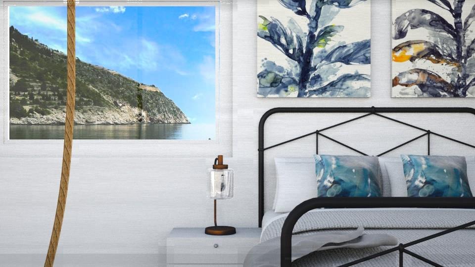 Simple Blue Bedroom - Bedroom - by GinnyGranger394